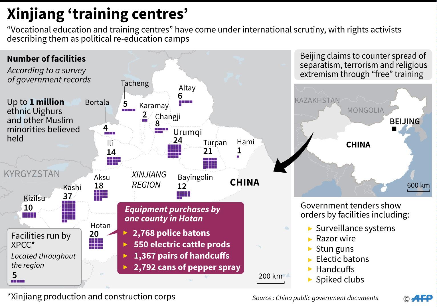 Картинки по запросу uyghur special camp map